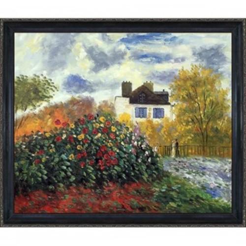 Framed Art Print 'The Artist's Garden at Argenteuil, 1873' by Claude Monet 16 x 14-inch