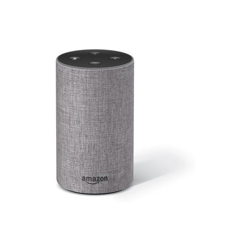 Amazon Echo (2nd Generation) (Heather Grey Fabric) Voice-activated speaker with Alexa virtual assistant