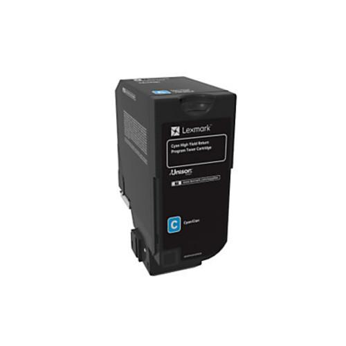 Lexmark Unison High-Yield Return Program Toner Cartridge, CS725, Cyan (74C1HC0)
