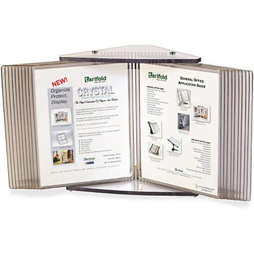 Tarifold 20-Pocket Crystal Desk Reference Unit, 14