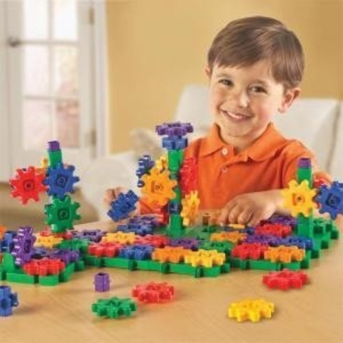 Learning Resources Gears! Gears! Gears! Deluxe Building Set, 100 Pieces: Toys & Games [Frustration-Free Packaging]