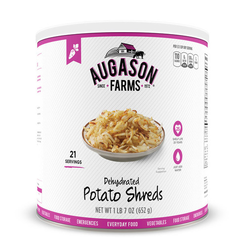 Augason Farms Dehydrated Potato Shreds 23-ounce No. 10 Can
