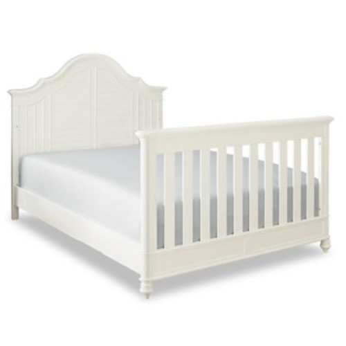 Bassettbaby Premier Nantucket Full Size Bed Rails in Cotton White