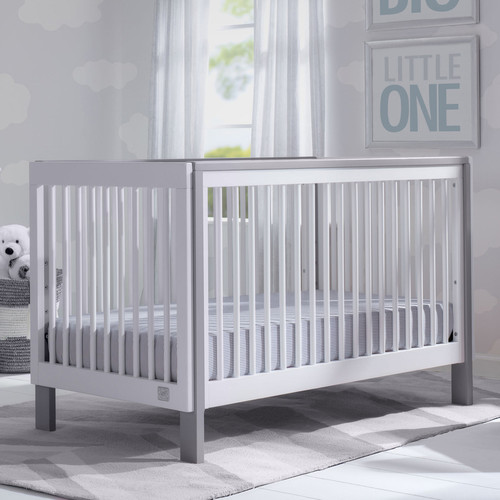 Serta Fremont 3-in-1 Convertible Crib - Bianca White with Grey