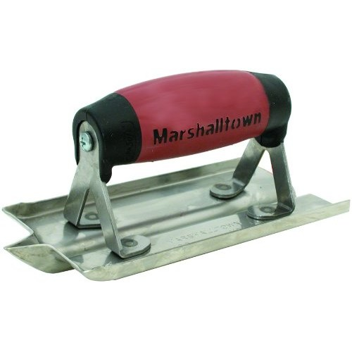 MARSHALLTOWN The Premier Line 180D 6-Inch by 3-Inch Stainless Steel Groover with DuraSoft Handle