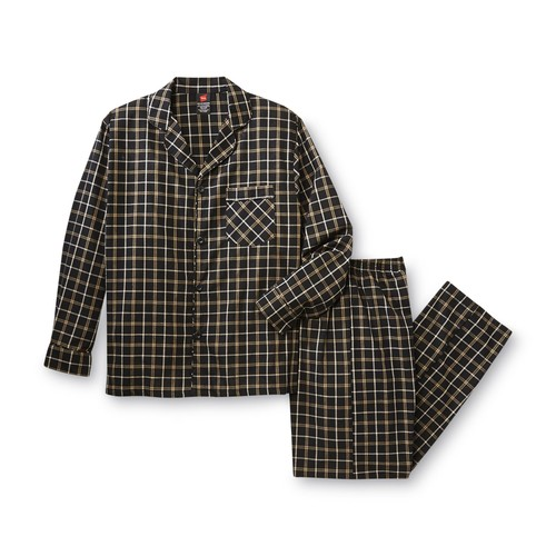 Hanes Men's Pajama Shirt & Pants - Plaid [Fit : Men's]