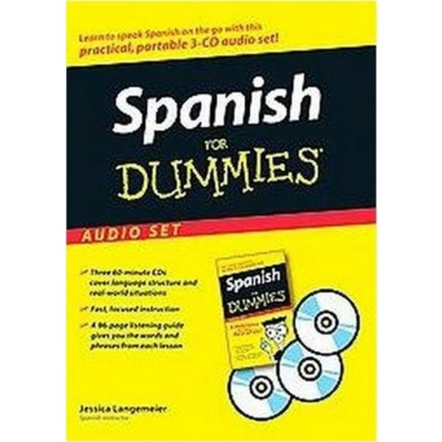 Spanish for Dummies (Bilingual) (CD/Spoken Word) (Jessica Langemeier)