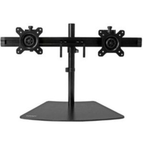 StarTech Dual Monitor Stand  Base Plate, Steel & Plastic, Supports up to 24 Display, Weight Capacity of 18 lbs., 75mm & 100mm VESA Compatible, Adjustable Height & Tilt Mechanism, Black  ARMBARDUO