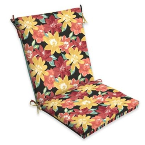 Selections by Arden Abella Floral Multicolor Outdoor Clean Chair Cushion