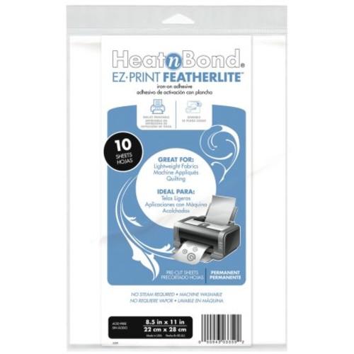 Heat'n Bond EZ-Print Featherlite Iron-On Adhesive-8.5