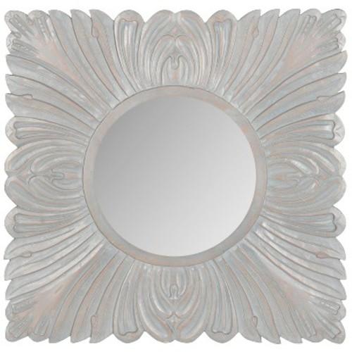 Round Acanthus Decorative Wall Mirror Gray - Safavieh