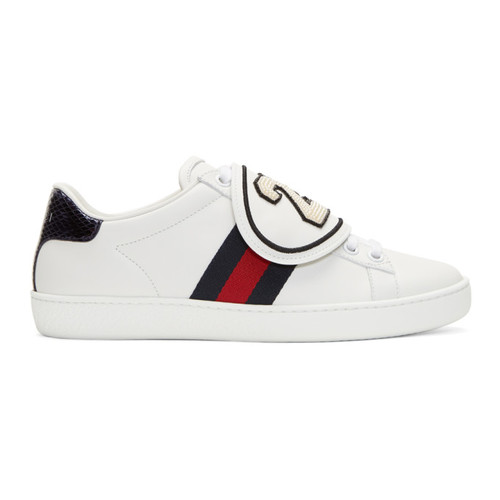 GUCCI White '25' Ace Sneakers