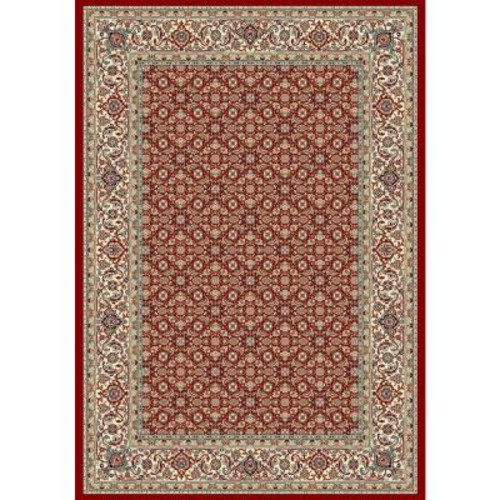 Hughes Red/Ivory 2 ft. x 4 ft. Indoor Area Rug