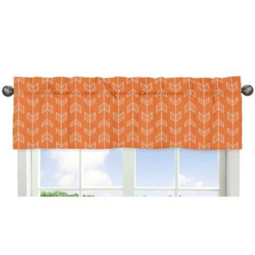 Sweet Jojo Designs Arrow Window Valance in Orange/White