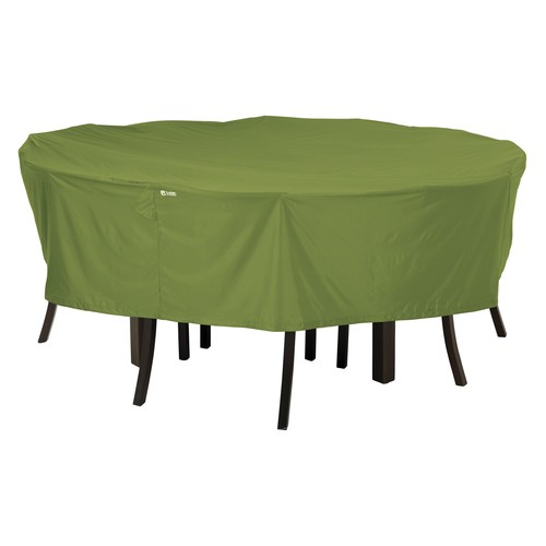 Classic Accessories Sodo Patio Table and Chair Cover, Round, Large, Herb