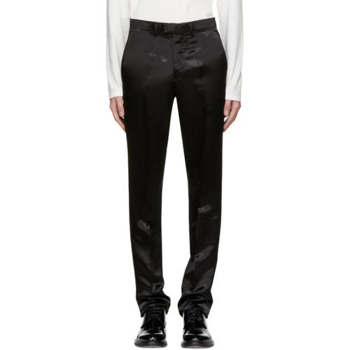 RAF SIMONS Black Satin Slim Pants