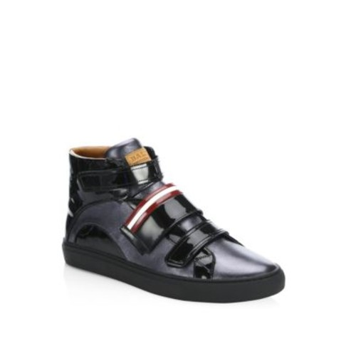 Herick Carbon Leather High Top Sneakers