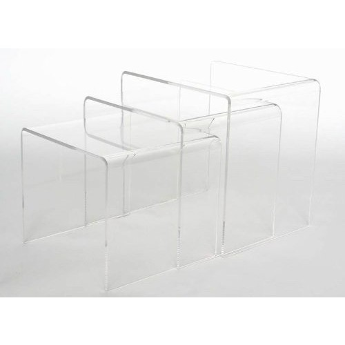 Baxton Studio Acrylic Nesting Tables, Clear [Clear]