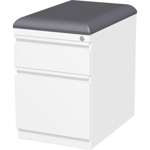 Lorell Mobile Pedestal File with Seating - 15