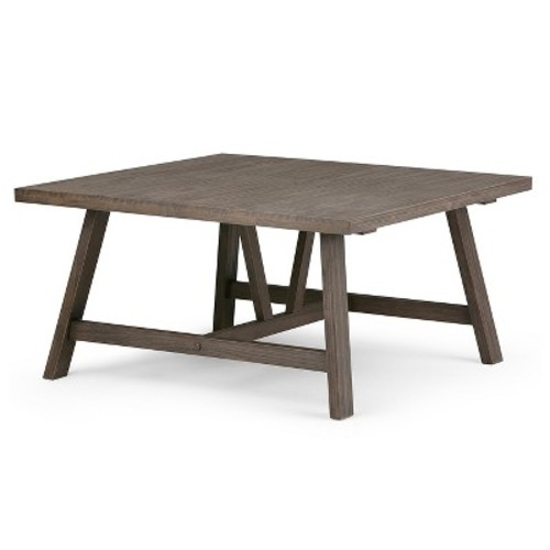 Dylan Square Coffee Table - Driftwood Finish - Simpli Home
