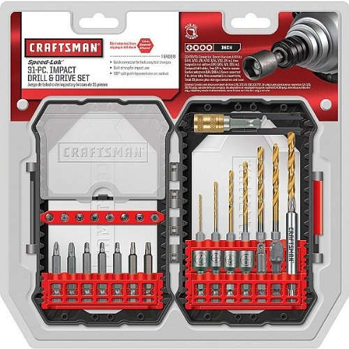 Craftsman 31pc Impact Drill and Drive Set, # 64088