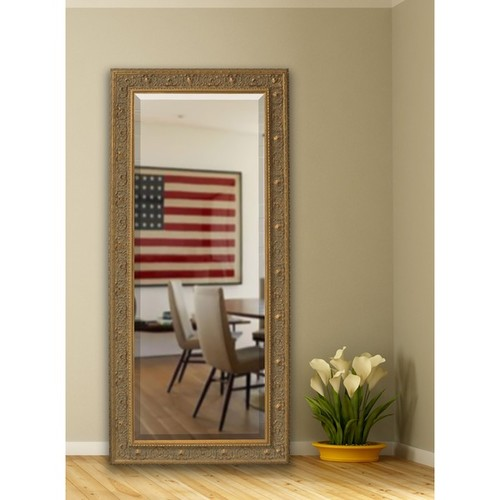 American Made Rayne 32.5 x 73-inch Opulent Gold Extra Tall Wall Vanity Floor Mirror