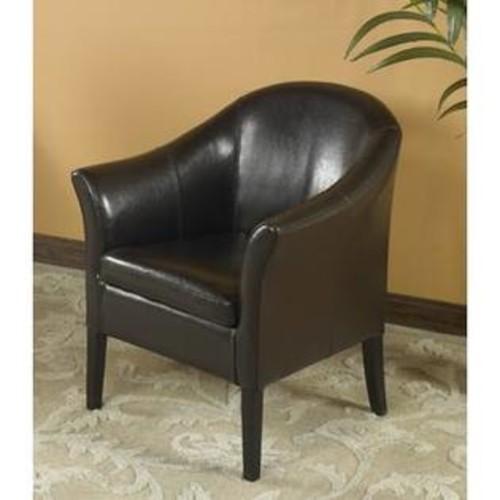 Armen Living 1404 Brown Leather Club Chair