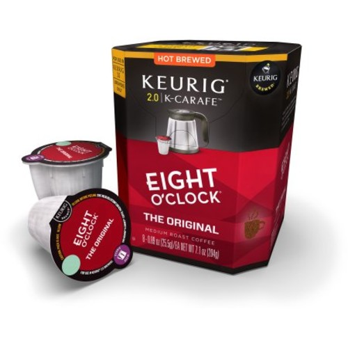 Keurig K-Carafe Packs, Eight O'Clock Coffee The Original, 8-Count