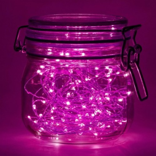 2ct Lumabase Pink Submersible LED Mini String Lights