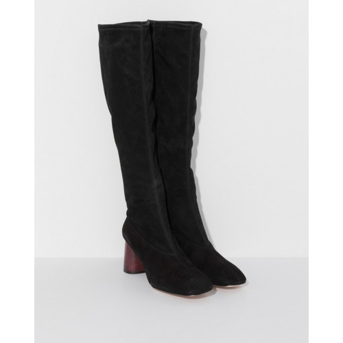 Helmut Lang Tall Stretch Boot in Black