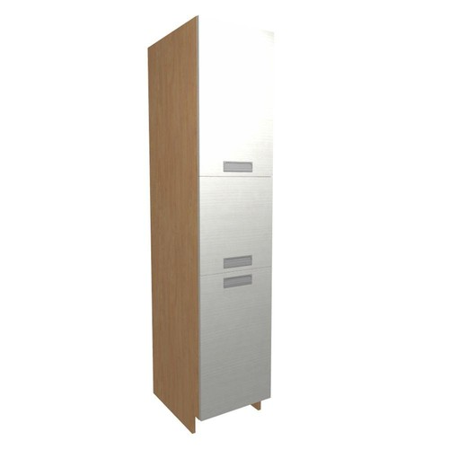 Home Decorators Collection Genoa Ready to Assembled 18 x 84 x 24 in. Pantry/Utility Cabinet with 4 Rollout Trays and 2 Soft Close Doors in Glacier