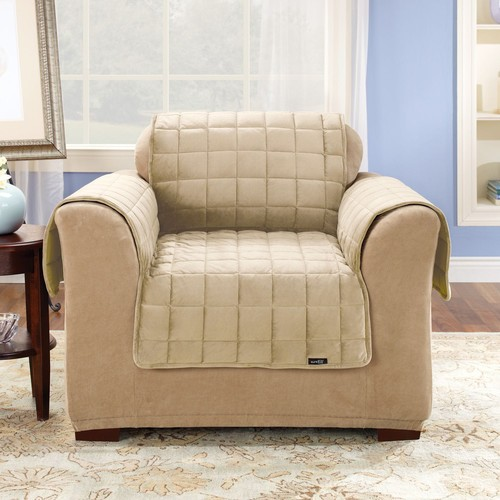 Sure Fit Deluxe Pet Cover - Chair Slipcover - Ivory (SF39453)