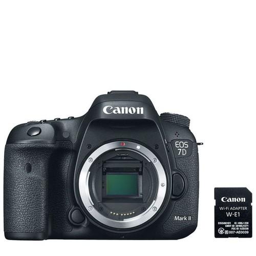 Canon EOS 7D Mark II DSLR Camera Body with W-E1Wi-Fi Adapter