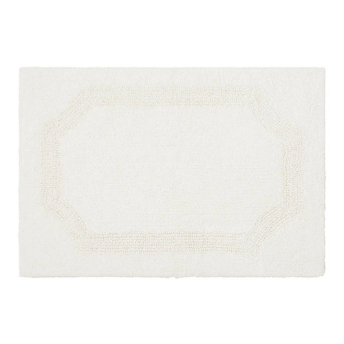Laura Ashley Reversible Cotton 21 x 34 in. Bath Mat [option : WHITE]