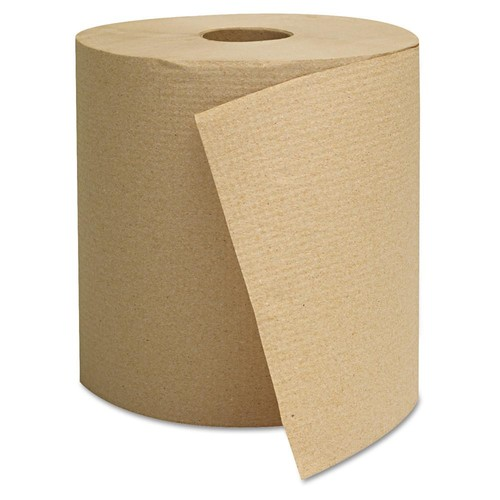 GEN Hardwound Towels, Brown, 1-Ply, Brown, 800ft, 6 Rolls/Carton
