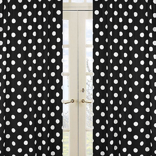 Sweet Jojo Designs Hot Dot Polka Dot Window Panel Pair