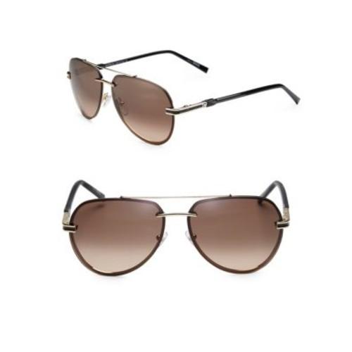 60MM Rimless Aviator Sunglasses