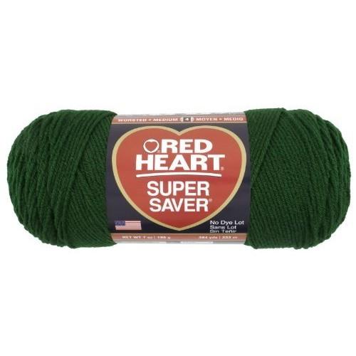 Red Heart Super Saver Economy Yarn, Hunter Green [Hunter Green]