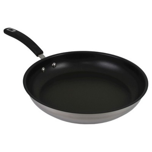 Oneida 12 Inch Stainless Steel Fry Pan With A Non-Stick Interior
