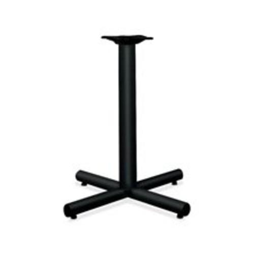 HON XSP26P Single Column Steel Base, 26w x 26d x 27-7/8h, Black [Black]