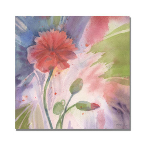'Budding Poppy' by Sheila Golden Painting Print on Canvas