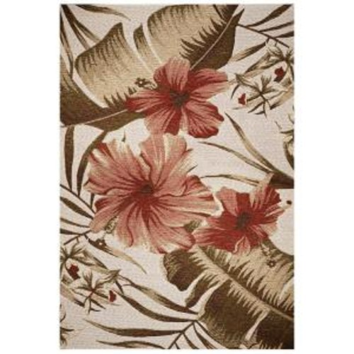 Kas Rugs Hibiscus Ivory 5 ft. 3 in. x 7 ft. 7 in. Area Rug