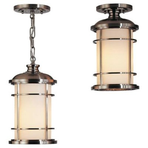 Feiss Lighthouse 1-Light Brushed Steel Outdoor Hanging Pendant