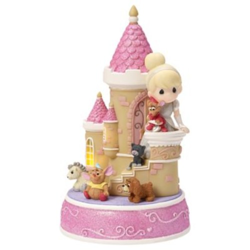 Precious Moments Disney Cinderella Castle LED Musical Figurine