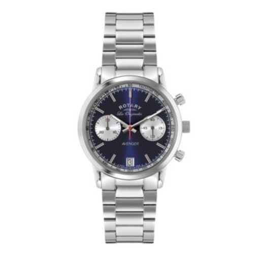 Rotary Les Originales Men's 40mm Chronograph Sports Avenger Watch in Stainless Steel