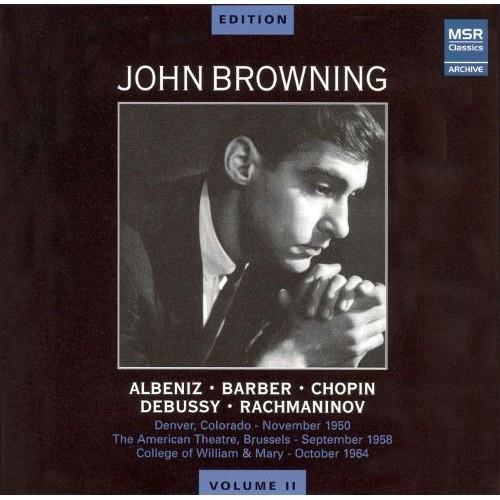 John Browning Plays Albniz, Barber, Chopin, Debussy, Rachmaninov [CD]
