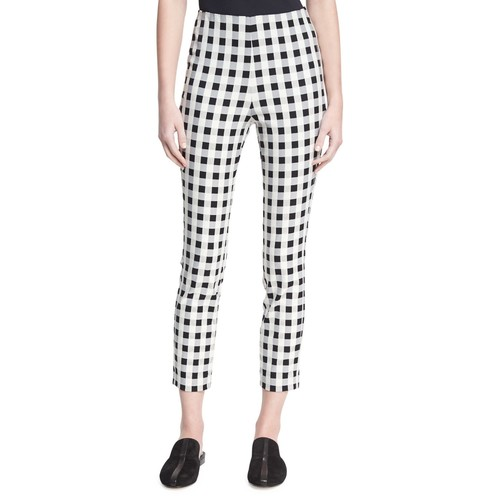 RAG & BONE Simone High-Rise Checkered-Print Pants, Black/White