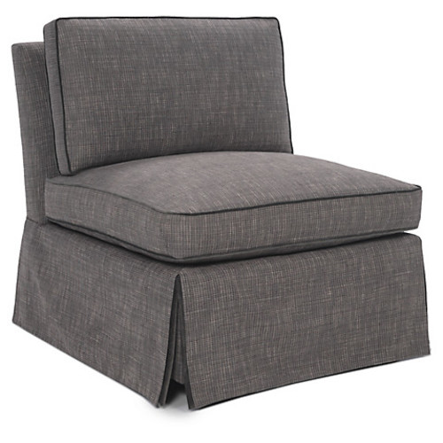 Ascot Slipper Chair, Gray
