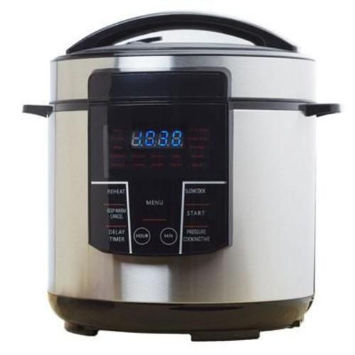 Brentwood 6 qt. Electric Pressure Cooker, Silver/Black (EPC626)