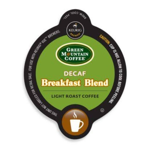 Vue 16-Count Green Mountain Coffee Decaf Breakfast Blend Coffee for